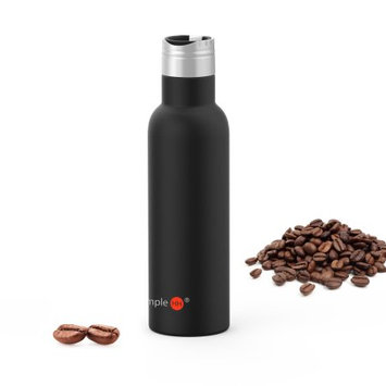 SimpleHH 23OZ Double Wall Vacuum Insulated Stainless Steel Leak Proof Sports Water Bottle, Standard Mouth with BPA Free Cap with Handle-BKï¼ multi-color selection)