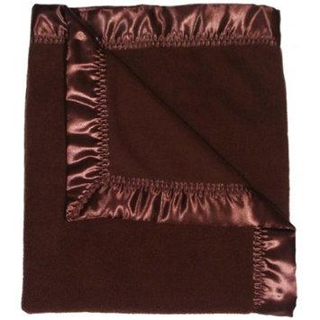 Dee Givens & Co/raindrops Dee Givens & Co-Raindrops 1807 Neutral Chocolate Fleece Receiving Blanket - Choc