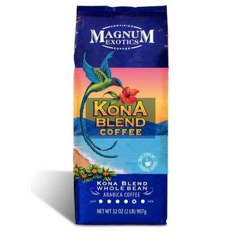 Magnum Exotics Kona Blend Coffee, 2 Pound, Whole Bean