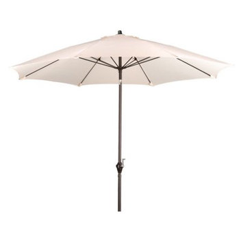 Lauren & Company 9-ft Round Natural White Patio Umbrella with Tilt-and-Crank LCATA-NATZ