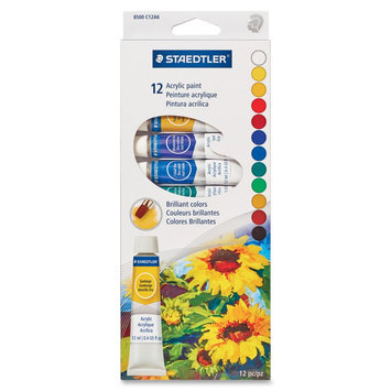 Staedtler 8500 Acrylic Paints - 0.41 Fl Oz - 12 / Box (8500c12a6)