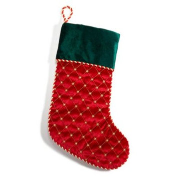 Red Stocking with Green Cuff, Created for Macy's