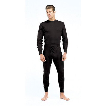 Black Polypropylene Thermal Long Underwear Pants/Bottom