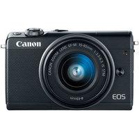 Canon EOS M100 Mirrorless Digital Camera with EF-M 15-45mm camera Kit - Black