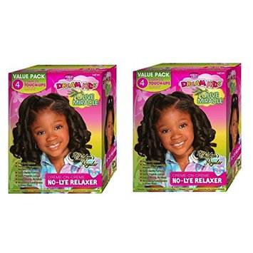 [ PACK OF 2] African Pride Dream Kids Olive Miracle 4 Touch-Up Relaxer Regular Value Pack: Beauty