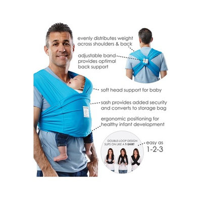 Baby K'tan ACTIVE Baby Carrier in Ocean Blue - X-large