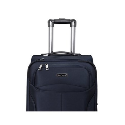 Zonebit 3 Piece Luggage Suitcase Set STIG16-001-Navy Lightweight Soft Shell with 4 Rolling 360 Spinner Wheels Waterproof Suitcase for Women and Men Family, Navy (20', 24', 28')