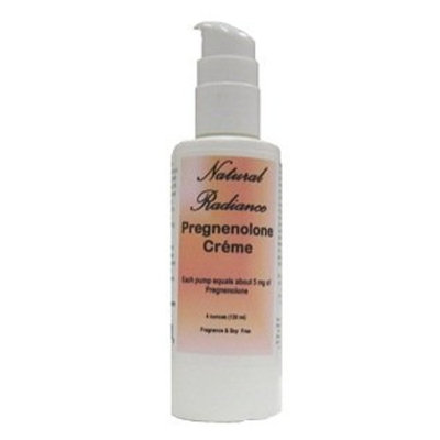 Natural Radiance Pregnenolone (Bioidentical) Crème 4 oz. Bottle (120 ml) Beneficial for slowing down the aging process. Fragrance-Free and Soy-Free
