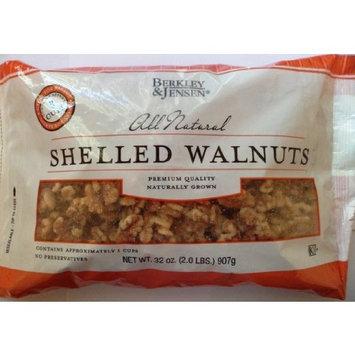 Shelled Walnuts All Natural Berkley & Jensen Net Wt 32 Oz (2.0 LBS) 907 g (Pack of 2)