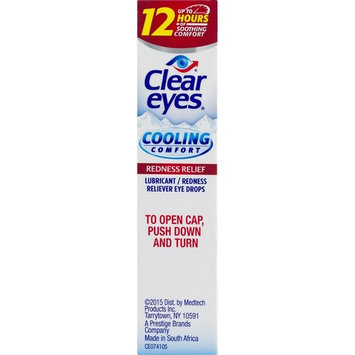 Clear Eyes | Cooling Comfort Redness Relief Eye Drops | 0.5 FL OZ | Pack of 3 [Redness Relief]