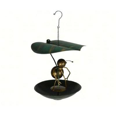 Gift Essentials GEBLUEG535F Ant Leaf Umbrella Bistro Birdfeeder