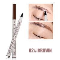Tattoo Eyebrow Pen, 3Pcs Eyebrow Tattoo Pen Waterproof Fork Tip Sketch Makeup Pen Microblading Ink by YOYORI