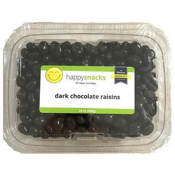 Happy Snacks Chocolate Covered Raisins - Dark Chocolate - Resealable Pouch Bag (20 oz)