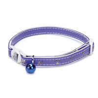 Petedge Savvy Tabby Sparkle Paw Cat Collar Violet