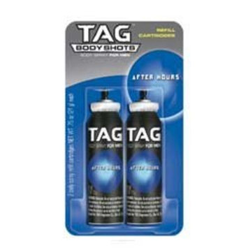 Tag Body Shots Refill Cartridges, After Hours for Men, 2 each 0.75 oz (2 pack)