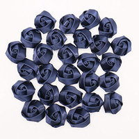 MAISHO 50pcs Handmade stereo Fabric Rose Flowers for DIY Headbands Clips, Wedding Decor Hair Bow Appliques Craft Sewing Accessories