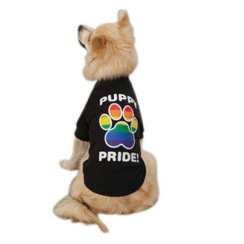Petedge ZM304 08 17 Casual Canine Puppy Pride Tee Xxs Black