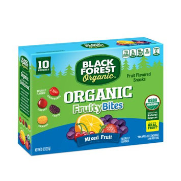 Ferrara Candy Company Black Forest Organic Fruity Bites Fruit Snacks, Mixed Fruit, 0.8 Ounce Bag, Pack of 10