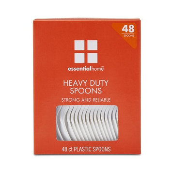 Essential Home Plastic Spoons - 48 Count