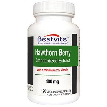 Bestvite Hawthorn Berry Extract 400mg (120 Vegetarian Capsules)