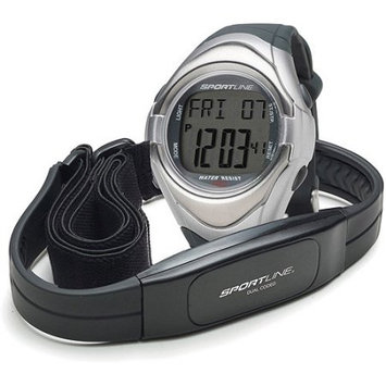 Sportsline Sportline Duo 560 Dual Use Heart Rate Monitor Watch with Strap, Black