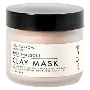 FIG+YARROW Rose Rhassoul Clay Mask - 1.2oz