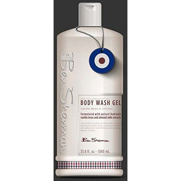 Ben Sherman BE3014b Body Wash Gel, Formulated with Vanilla Bean and Almond Milk