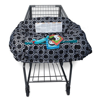 Boppy Shopping Cart and High Chair Cover, City Squares Black and White [Black, White]