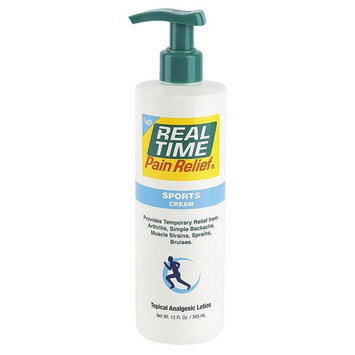 Real Time Pain Relief Sports Cream, 12 Ounce Pump
