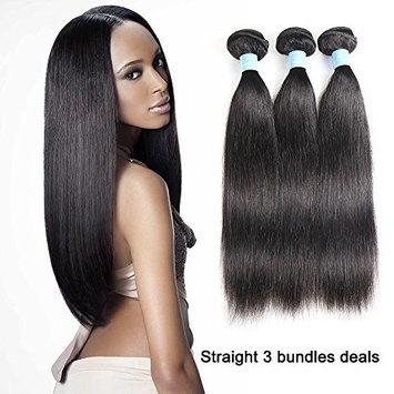 Brazilian Straight Virgin Hair 3 Bundles 8A Unprocessed Human Hair Extensions Natural Color Length(14