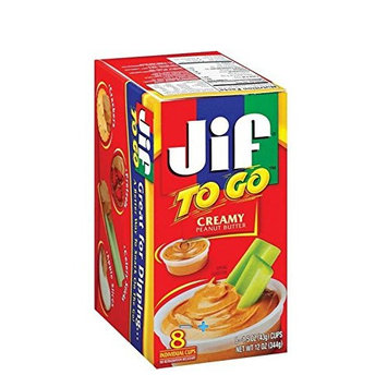 Jif To Go Creamy Peanut Butter, 1.5 oz, 8 count