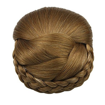 Better-Home Synthetic Braided Hair Updo Extensions Clip in Bun Chignon Hairpieces