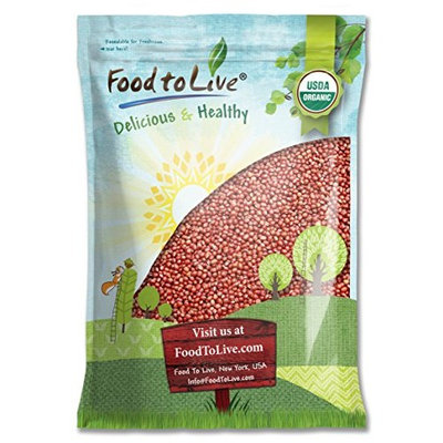 Food To Live ® Organic Adzuki Sprouting Beans (20 Pounds)
