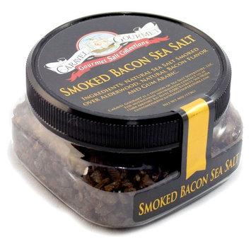 Smoked Bacon Sea Salt - Coarse Grain - Cooking & BBQ Grilling Flavor - 4 Ounces - Stackable Jar - by Caravel Gourmet [Bacon (Coarse)]