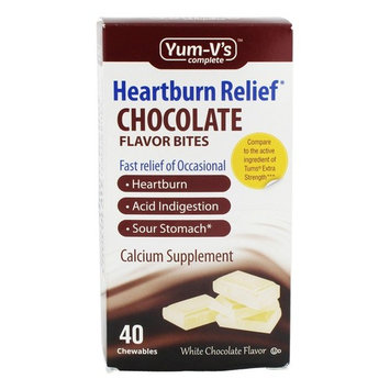 Heartburn Relief Calcium Bites White Chocolate Flavor - 40 Chewables