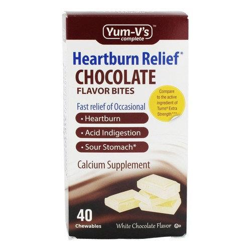 Heartburn Relief Calcium Bites White Chocolate Flavor - 40 Chewables