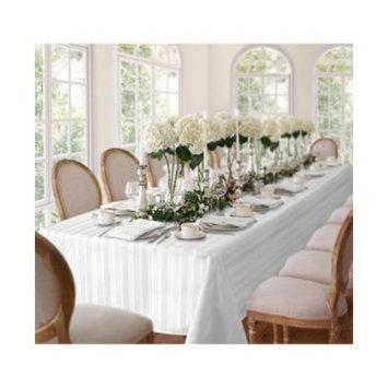 Denley Stripe White Table Linen Collection