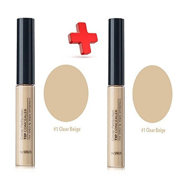 [THE SAEM] Cover Perfection Tip Concealer (SPF28/PA++) 6.8g/1+1 Big Sale (#1. 1+1) : Beauty