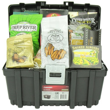 GreatArrivals Home is Where You Hang Your Hammer Housewarming Gourmet Snacks Toolbox Gift Basket, 7 Pound