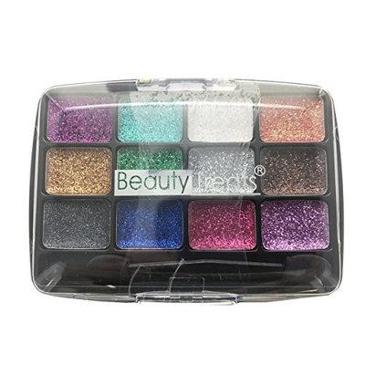 BEAUTY TREATS 12 Colors Glitter Palette - Electric