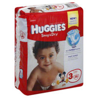 Huggies Snug & Dry Diapers, Size 3, 34CT