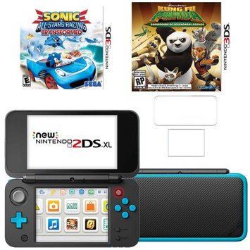 New Nintendo 2DSXL with Kung Fu Panda, Sonic All Star Racing and Screen Protector