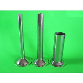 (3) Stuffing Tubes for CHEFS CHOICE meat grinder attachment. STAINLESS STEEL : Jerky And Dried Meats : Grocery & Gourmet Food