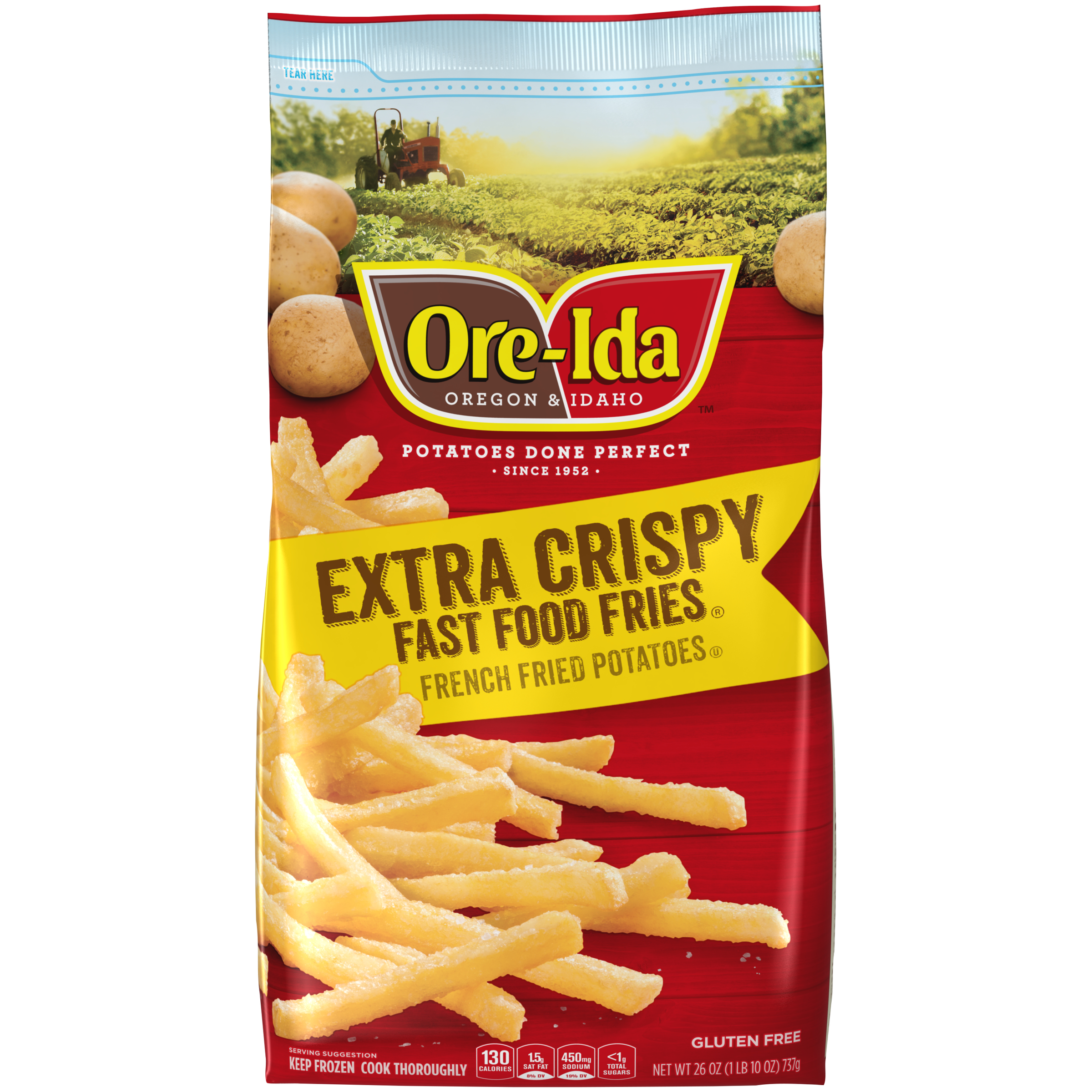 Ore-Ida Fast Food Fries Extra Crispy French Fried Potatoes
