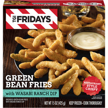 TGIF Green Bean Fries with Wasabi Ranch Dip