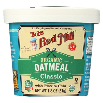 BOB'S RED MILL, OATMEAL, OG2, CUP, CLASSC, GF, Pack of 12, Size 1.8 OZ - No Artificial Ingredients Gluten Free 95%+ Organic