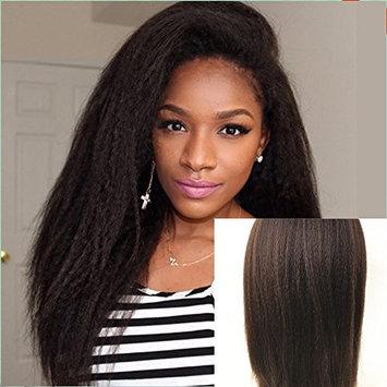 JYL Silk Top Full Lace Glueless Brazilian Human Virgin Hair Italian Yaki Silk Top Glueless Wig Natural Hairline Bleached Knots With Baby Hair Freestyle (20'' Small Cap, 2)