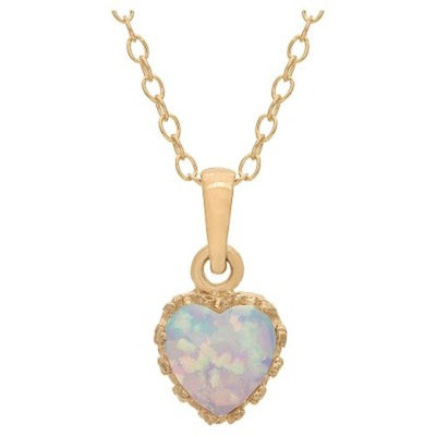 Tiara Gold Over Silver Heart-cut Birthstone Crown Pendant