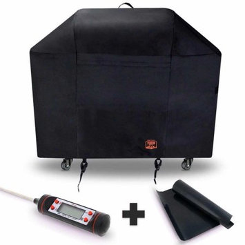 Yukon Glory 7132 Grill Cover for Weber Genesis II 6 burner grill FREE BONUS MEAT & POULTRY THERMOMETER + BBQ GRILLING MATT