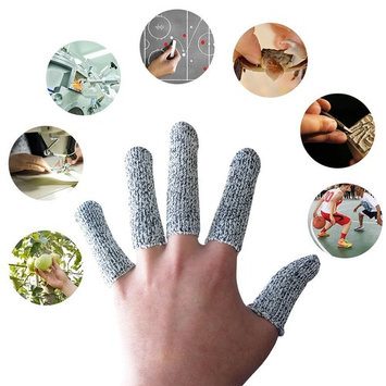 EvridWear Finger Cots Cut Resistant Protection,Jewelry Handing Protection,Glove Life Extender, Finger Sleeves, Substitute for A Full Glove, Thumb Protector, HPPE Rated (20PCS)